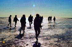 Reiszvoll: Abendliche Wanderung im UNESCO_Weltkulturerbe Wattenmeer. (Foto: NBTC)