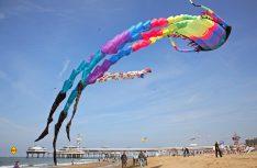 Über 100 Drachenfliegeraus dem In- und Ausland versammeln sich jährlich zum Drachenfest in Scheveningen. (Foto: NBTC)