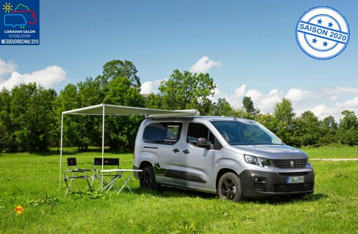 Peugeot präsentiert als Weltpremiere auf dem Caravan Salon Düsseldorf 2019 den Campingbus Partner Alpin Camper. (Foto: Werk)