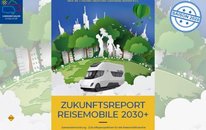 """Die neue Studie """"Zukunftsreport - Reisemobile 2030+"""" von Prof. Dr. Josef Fischer und dem Deutschen Caravaning Institut (D.C.I.) befasst sich mit den spannenden Zukunftsaussichten der Reisemobil-Branche bis 2030. (Grafik: D.C.I.)"""