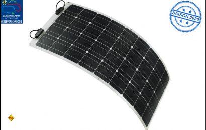 Teleco präsentiert mit dem Solarmodul TSPF 110W eine leichte, flexible und effektive Solaranlage für gewölbte Dachformen. (Foto: Teleco)
