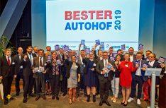 Bester Autohof 2019 - Große Freude bei den ausgezeichneten Autohöfen. (Foto: Huss-Verlag)