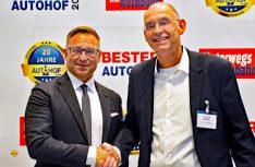 Bert Brandenburg (links), Huss-Verlag und Thomas Schmies, D.C.I. (Foto: det / D.C.I.)