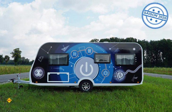 """Die LMC-Caravan-Studie """"gaslos glücklich"""" zeigt, dass Gas und Wohnwagen in Zukunft nicht zwingend zusammengehören müssen. (Foto: LMC)"""