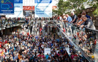 Mit einem sensationellen Besucherrekord von über 80.000 Gästen startete der Caravan Salon Düsseldorf 2019 am ersten Wochenende. (Foto: Caravan Salon)