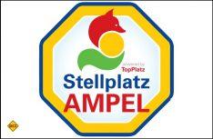 Die Stellplatz-Ampel von TopPLatz als Belegungsanzeige und Info. (Foto: TopPlatz)