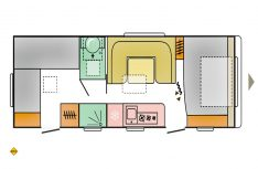 Grundriss Adria Adora 673 PK. (Grafik: Adria)