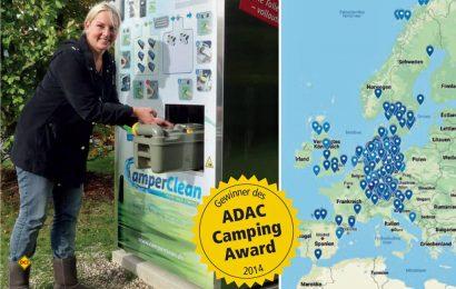 Seit zehn Jahren erfolgreich: Knapp 300 Reinigungsstationen für Cassetten-Toilettentanks hat CamperClean mittlerweile europaweit aufgestellt (Foto: CamperClean).