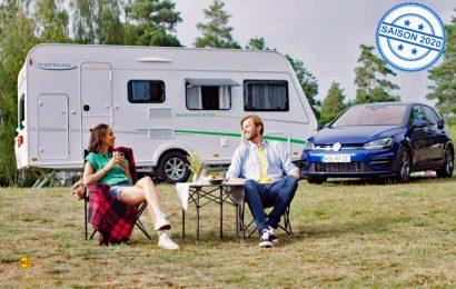 Camping mit dem VW Golf? Mit dem leichten Kompakt-Caravan Sassino von LMC kein Problem. (Foto: LMC)