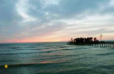 Das ist Albanien, nicht die Karibik: Abendstimmung am Mittelmeerstrand. (Foto: wör / D.C.I.)