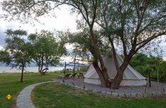 Glamping im Lake Shkodra Ressort mit Tipis. (Foto: thw / D.C.I.)