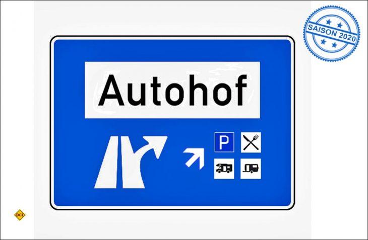 Gute Aktion für die neue Saison: Die Autohöfe öffnen sich mit spezieller Infrastruktur für Gäste mit Wohnwagen-Gespann oder Wohnmobil. (Foto/Montage: D.C.I.)