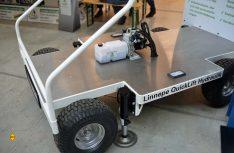 Linnepe ist zum ersten Mal mit seinem QuickLift Stützensystem bei Frankana vertreten. (Foto: det / D.C.I.)