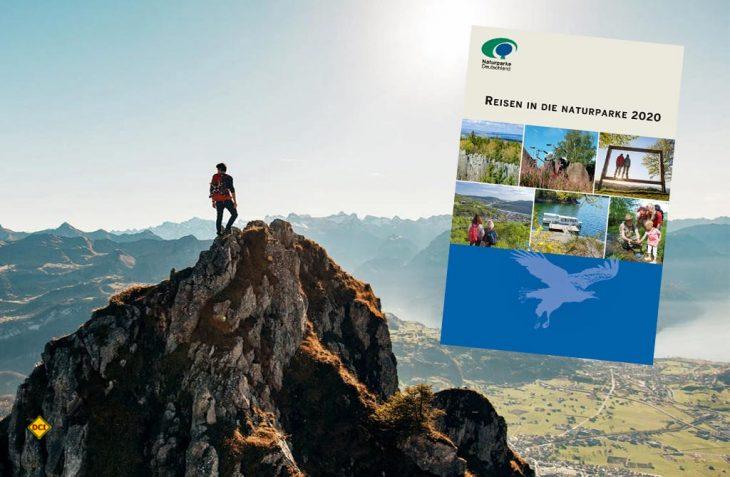 Klimafreundlich in die Natur – die neue Reisebroschüre 2020 des Verbandes Deutscher Naturparke beschreibt das Naturerlebnis Naturparke in Deutschland, Österreich, der Schweiz und Luxemburg. (Foto: VDN Bonn)