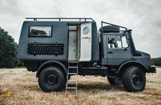 Der Polygon Shelter wird auf gebrauchten, überholten Unimogs von der Bundeswehr aufgebaut. (Foto: Polygon Shelter)