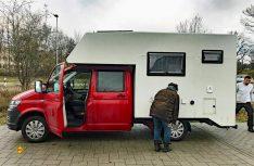 Die Kabine sitzt, alles ist gesichert, die Heimfahrt kann starten. (Foto: Schwarz)