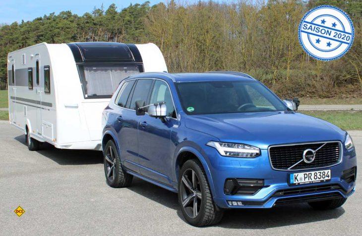 Als maximale Anhängelast genehmigt Volvo seinem Premium-SUV zwar nur 2.700 Kilogramm, die aber für alle Caravans ausreicht. (Fotos: sis / D.C.I.)