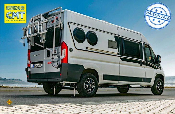 Das Stützensystem Al-Ko HY2 ist speziell für kleine Reisemobile und Campervans als Nivellierhilfe für die Hinterachse im Angebot. (Foto: Al-Ko)