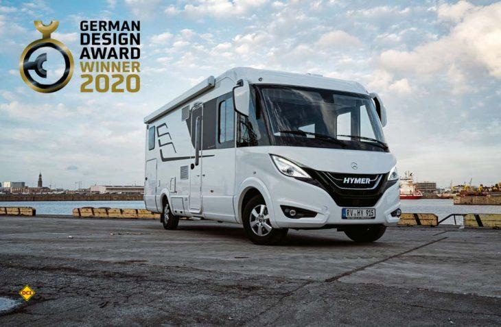 """Der Rat für Formgebung hat die Hymer B-Klasse MasterLine I 780 für sein Exterieur-Design mit dem """"German Design Award 2019"""" ausgezeichnet. (Foto: Hymer)"""