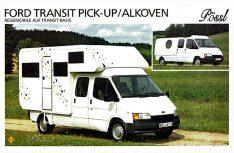 Gute Idee, leider wenig Erfolg: Die Pössl Pick Up auf Ford Transit von 1991. (Foto: MT-Archiv)
