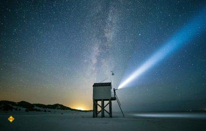 Ausblick auf die Milchstraße im Dark Sky Park Im Naturgebiet Boschplaat auf der Insel Terschelling. (Foto: NBTC)