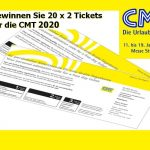 20 x 2 Eintrittskarten für die Urlaubsmesse CMT 2020 zu gewinnen