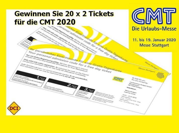 Gewinnen Sie Eintrittskarten für die CMT 2020. (Montage: tom / D.C.I.)