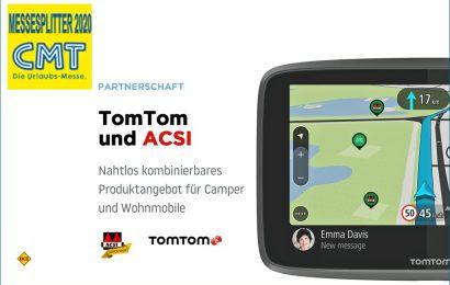 Camping-Spezialist ACSI und der Karten- und Navigationsspezialist TomTom haben eine Zusammenarbeit zur Content-Übernahme beschlossen. (Foto: TomTom)