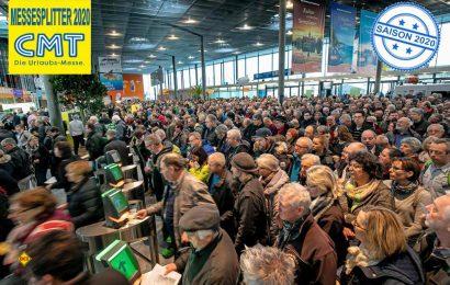 Besucheransturm erwartet: Die Freizeit- und Reisemesse CMT 2020 in Stuttgart hat ihre Tore geöffnet. (Foto: Messe Stuttgart)