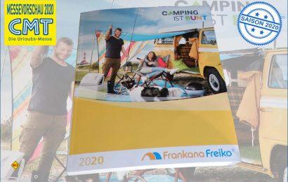 Camping ist bunt: 16.000 Artikel auf 864 Seiten stellt Frankana/Freiko im neuen Katalog 2020 vor. (Foto: det / D.C.I.)