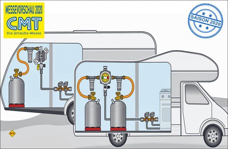 Auf der CMT 2020 präsentiert das unterfränkische Familienunternehmen GOK die Gasregelanlagen Caramatic DriveOne und DriveTwo, in denen der Crash-Sensor verbaut ist. (Foto: GOK)
