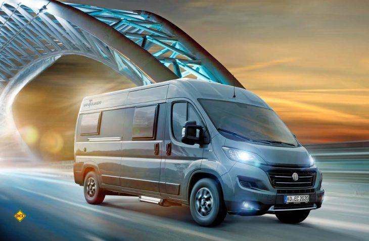 Limitiertes Sondermodell: EuroCaravaning zeigt den Campingbus VanTourer Twenty20 mit außergewöhnlichem Außendesign und einer Top-Ausstattung. (Foto: EuroCaravaning)