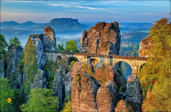 Platz fünf in der Top-Ten-Bestenlister der europäischen Nationalparks: Nationalpark Sächsische Schweiz in Deutschland. (Foto: Holidu)