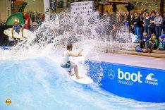 """""""The Wave"""" ist Action pur und nichts für Wasserscheue. (Foto: Messe Düsseldorf / ctillmann)"""