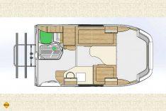 Der sehr verbaute Grundriss des Lada Granta Reisemobil zeigt: Platz ist in der kleinsten Hütte. (Foto: Schwab/madeinrussia.de)