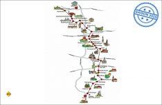 Die 460 Kilometer lange Route der Romantischen Straße von Würzburg nach Füssen. (Grafik: Romantische Straße)