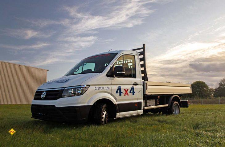 Der Offroad-Umbau von Oberaigner ist verfügbar für den Crafter von Volkswagen Nutzfahrzeuge in allen drei Längen mit Zwillingsbereifung. (Foto: Volkswagen Nutzfahrzeuge)