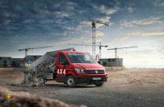 Für härtere Aufgaben ausgelegt: Allrad-Umbau von Oberaigner für den Crafter bis zu 5,5 t zGG von Volkswagen Nutzfahrzeuge. (Foto: Volkswagen Nutzfahrzeuge)