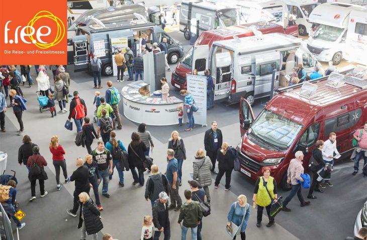 Jubiläum: Die Reise- und Freizeitmesse f.re.e. in München findet zum 50. mal statt und hat ihren Caravaningbereich deutlich ausgebaut. (Foto: Messe München)