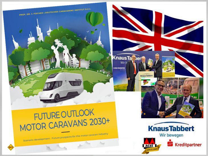 """Der """"Zukunftsreport Reisemobile2030+"""" ist nun auch auf Englisch verfügbar. (Montage: tom / D.C.I.)"""
