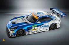 Mit dem Knaus Raptor, einem Mercedes-AMG GT 3 Evo im Schwalben-Look, will das Team HTP-Winward Motorsport bei der ADAC GT Masters 2020 angreifen. (Foto: Knaus)