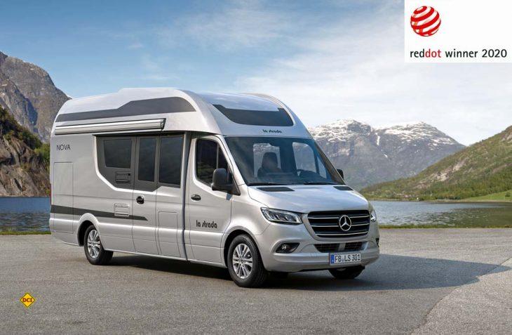Die Anfang 2020 von der Reisemobil-Manufaktur La Strada vorgestellte Prestige-Baureihe Nova hat den Red-Dot-Award 2020 für Design gewonnen. (Foto: La Strada)