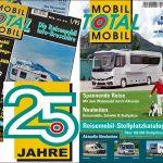 25 Jahre Mobil Total – Jubiläums-Ausgabe 1/2020 – Europas größter Reisemobil Stellplatz-Katalog am Kiosk