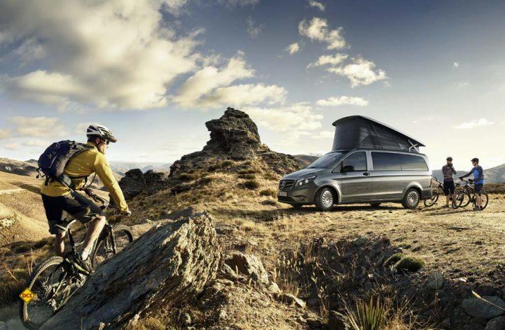 Der neue Marco Polo Activity auf Basis des Mercedes-Benz Vito steht als Einstiegsmodell in die Marco Polo Familie für eine hohe Variantenvielfalt bei Motor und Antrieb, sowie Variabilität im Innenraum. (Foto: Mercedes-Benz)