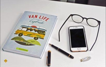 Das ideale Reisetagebuch für Weltenbummler und Globetrotter: Mit dem Vanlife Logbuch können individuelle und sehr persönlich gestaltete Reise-Tagebücher entstehen. (Foto: det / D.C.I.)