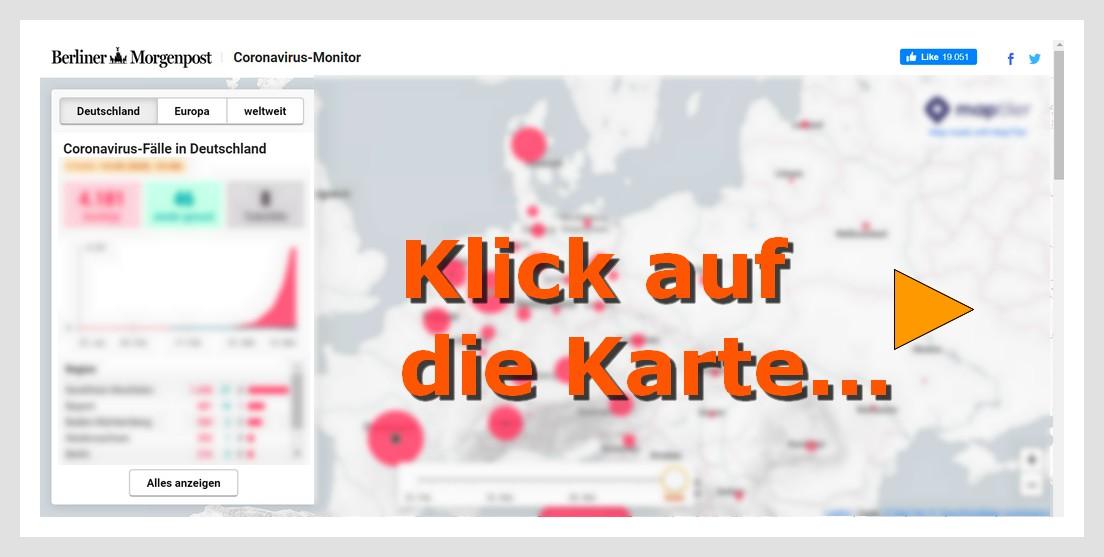 Corona-Virus: Hier gibt es aktuelle Zahlen für Deutschland, Europa und die Welt. (screenshot: tom/DCI)