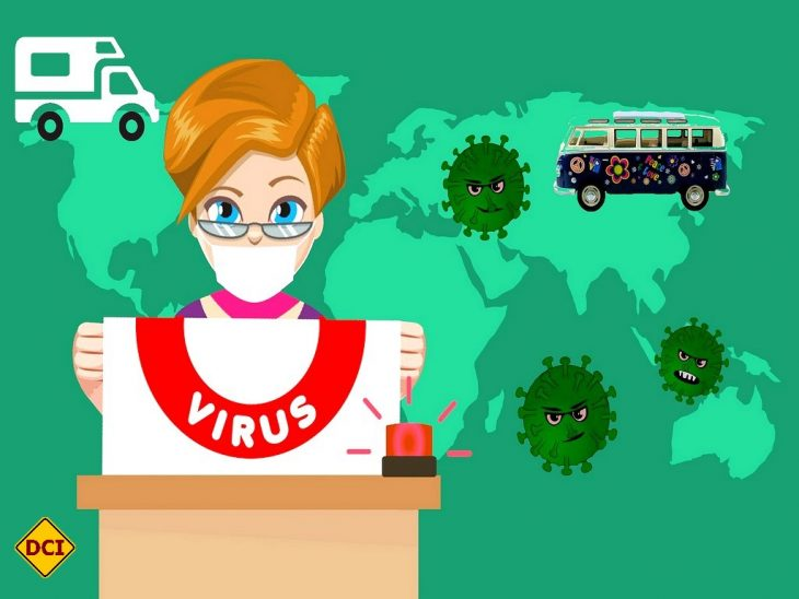 Corona ist ein weltweites Ereignis mit Auswirkungen auf die Caravaning-Branche. Das D.C.I. sagt, was Sache ist. (Montage: tom/DCI pixabay.com/mohamed_hassan)