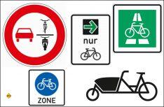 """Die neuen """"Fahrrad""""-Verkehrszeichen im Überblick. (Foto: BMVI)"""