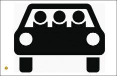 Sinnbild mehrfachbesetzte Personenkraftwagen. (Foto: BaSt)
