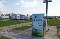 Die erste CamperClean-Station im Feldtest auf dem Campingplatz Grav Insel. (Foto: CamperClean)